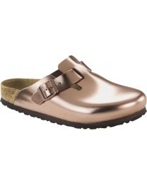 Birkenstock Classic Boston - Metallic Copper Soft Footbed