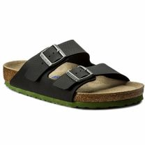 Birkenstock Classic Arizona - Desert Soil Black LS Green